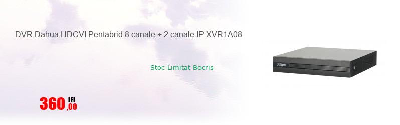 DVR Dahua HDCVI Pentabrid 8 canale + 2 canale IP XVR1A08