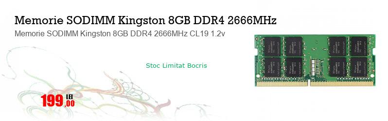 Memorie SODIMM Kingston 8GB DDR4 2666MHz CL19 1.2v