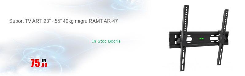 """Suport TV ART 23"""" - 55"""" 40kg negru RAMT AR-47"""