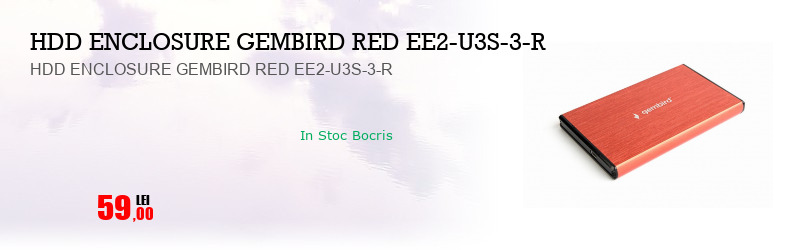 HDD ENCLOSURE GEMBIRD RED EE2-U3S-3-R