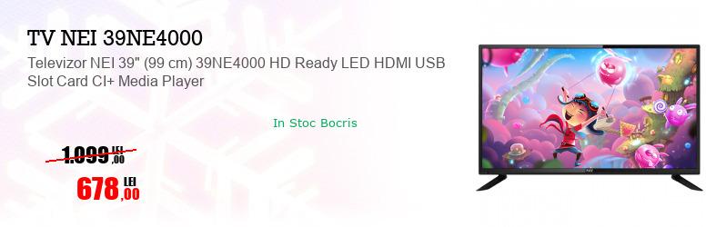 "Televizor NEI 39"" (99 cm) 39NE4000 HD Ready LED HDMI USB Slot Card CI+ Media Player"
