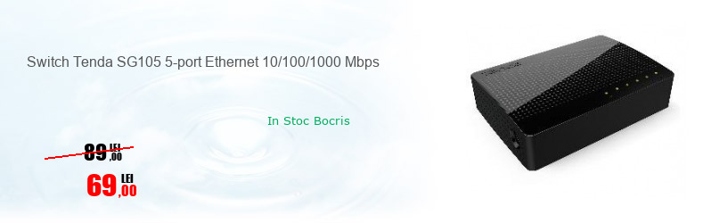 Switch Tenda SG105 5-port Ethernet 10/100/1000 Mbps