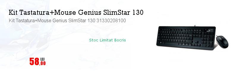 Kit Tastatura+Mouse Genius SlimStar 130 31330208100