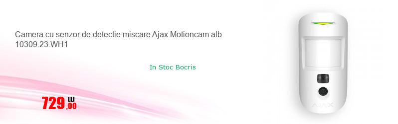 Camera cu senzor de detectie miscare Ajax Motioncam alb 10309.23.WH1