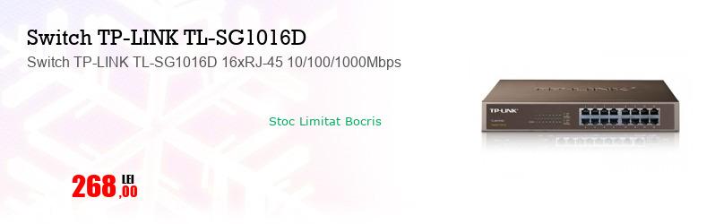 Switch TP-LINK TL-SG1016D 16xRJ-45 10/100/1000Mbps