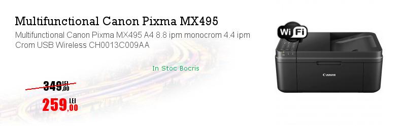 Multifunctional Canon Pixma MX495 A4 8.8 ipm monocrom 4.4 ipm Crom USB Wireless CH0013C009AA