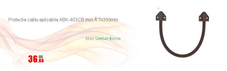 Protectie cablu aplicabila ABK-403CB Inox Ø7x330mm