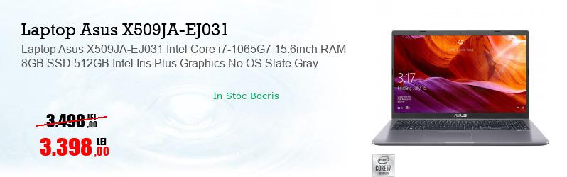 Laptop Asus X509JA-EJ031 Intel Core i7-1065G7 15.6inch RAM 8GB SSD 512GB Intel Iris Plus Graphics No OS Slate Gray