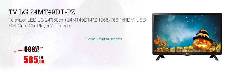 "Televizor LED LG 24""(60cm) 24MT49DT-PZ 1366x768 1xHDMI USB Slot Card CI+ PlayerMultimedia"