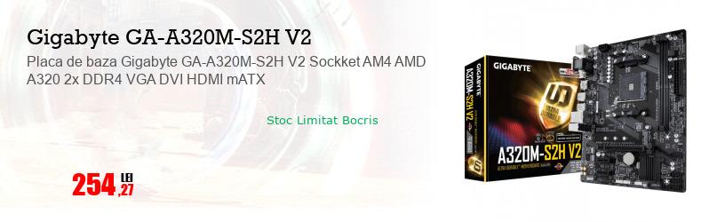 Placa de baza Gigabyte GA-A320M-S2H V2 Sockket AM4 AMD A320 2x DDR4 VGA DVI HDMI mATX