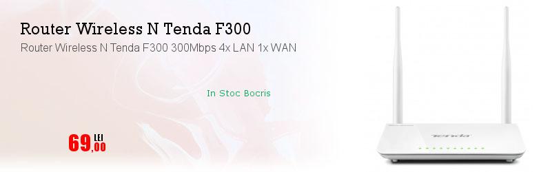 Router Wireless N Tenda F300 300Mbps 4x LAN 1x WAN