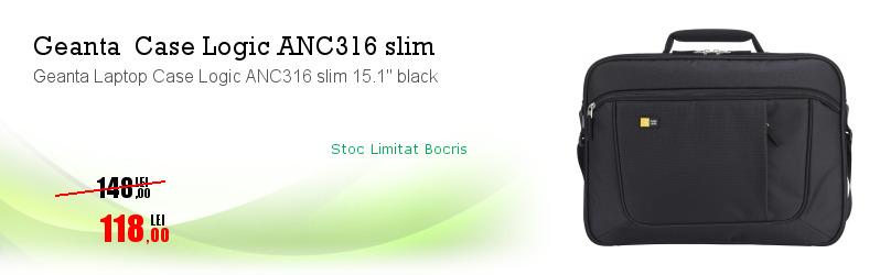 "Geanta Laptop Case Logic ANC316 slim 15.1"" black"