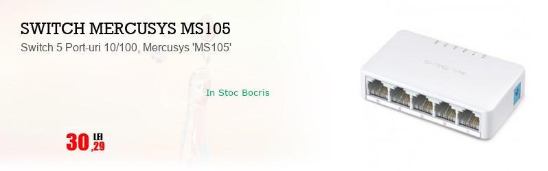 Switch 5 Port-uri 10/100, Mercusys 'MS105'