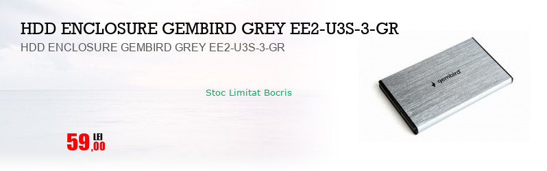 HDD ENCLOSURE GEMBIRD GREY EE2-U3S-3-GR