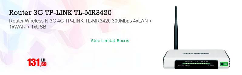 Router Wireless N 3G 4G TP-LINK TL-MR3420 300Mbps 4xLAN + 1xWAN + 1xUSB