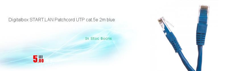 Digitalbox START.LAN Patchcord UTP cat.5e 2m blue