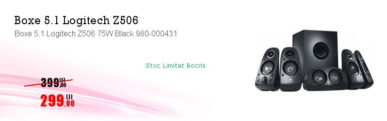Boxe 5.1 Logitech Z506 75W Black 980-000431