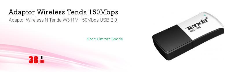 Adaptor Wireless N Tenda W311M 150Mbps USB 2.0