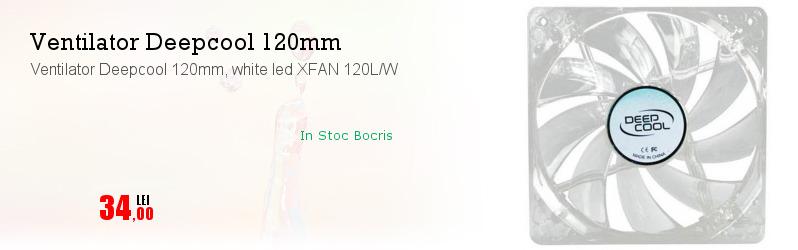 Ventilator Deepcool 120mm, white led XFAN 120L/W