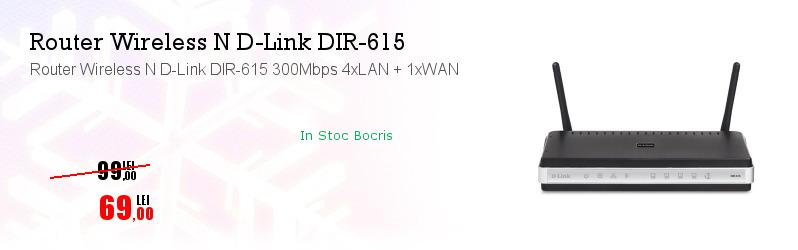 Router Wireless N D-Link DIR-615 300Mbps 4xLAN + 1xWAN