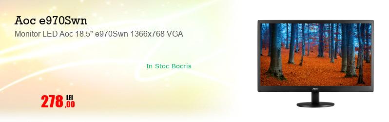 """Monitor LED Aoc 18.5"""" e970Swn 1366x768 VGA"""