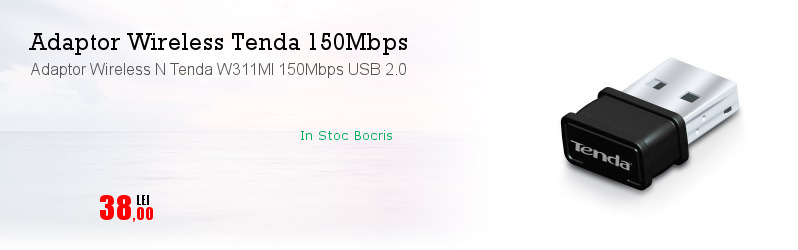 Adaptor Wireless N Tenda W311MI 150Mbps USB 2.0