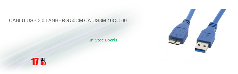 CABLU USB 3.0 LANBERG 50CM CA-US3M-10CC-00