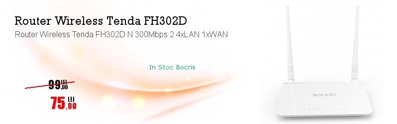 Router Wireless Tenda FH302D N 300Mbps 2 4xLAN 1xWAN