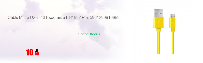 Cablu Micro USB 2.0 Esperanza EB182Y Plat 5901299919989