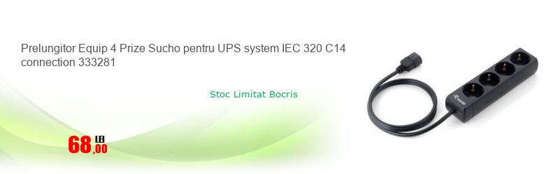 Prelungitor Equip 4 Prize Sucho pentru UPS system IEC 320 C14 connection 333281