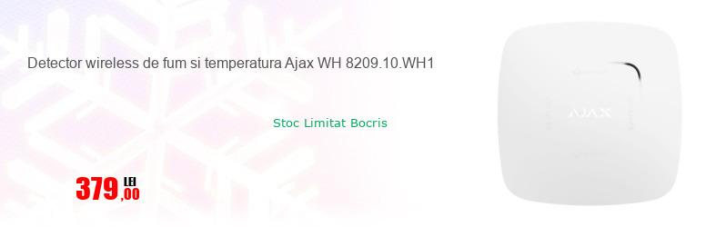 Detector wireless de fum si temperatura Ajax WH 8209.10.WH1