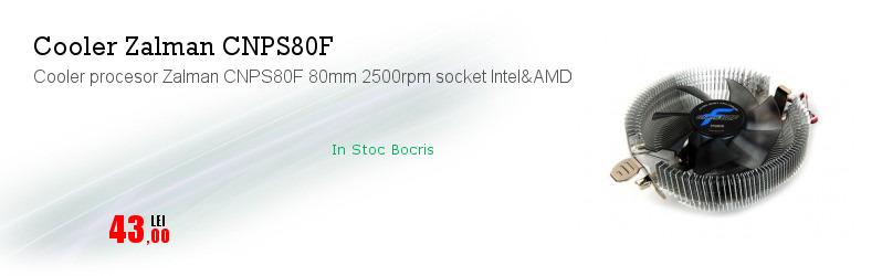 Cooler procesor Zalman CNPS80F 80mm 2500rpm socket Intel&AMD