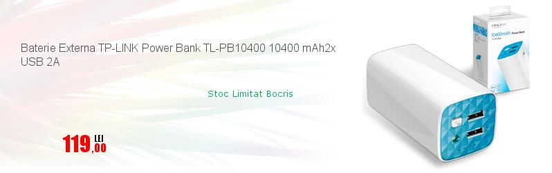 Baterie Externa TP-LINK Power Bank TL-PB10400 10400 mAh2x USB 2A