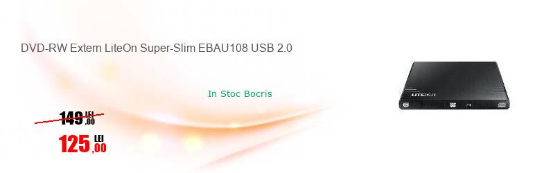 DVD-RW Extern LiteOn Super-Slim EBAU108 USB 2.0