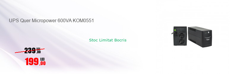 UPS Quer Micropower 600VA KOM0551