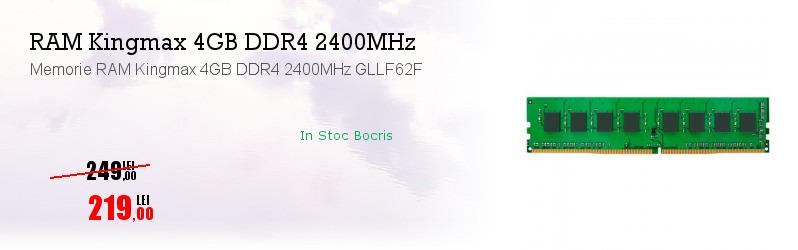 Memorie RAM Kingmax 4GB DDR4 2400MHz GLLF62F