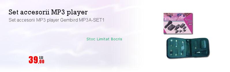 Set accesorii MP3 player Gembird MP3A-SET1