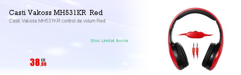 Casti Vakoss MH531KR control de volum Red
