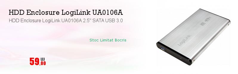 """HDD Enclosure LogiLink UA0106A 2.5"""" SATA USB 3.0"""