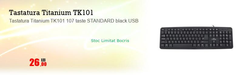 Tastatura Titanium TK101 107 taste STANDARD black USB