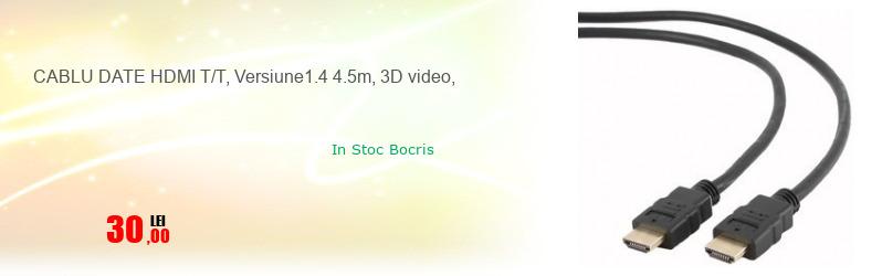 CABLU DATE HDMI T/T, Versiune1.4 4.5m, 3D video,
