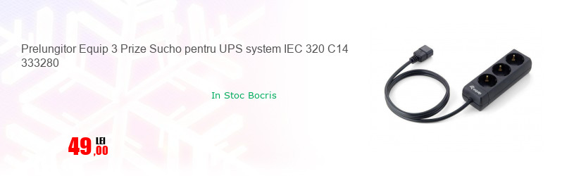 Prelungitor Equip 3 Prize Sucho pentru UPS system IEC 320 C14 333280