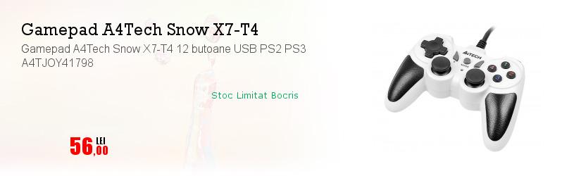 Gamepad A4Tech Snow X7-T4 12 butoane USB PS2 PS3 A4TJOY41798