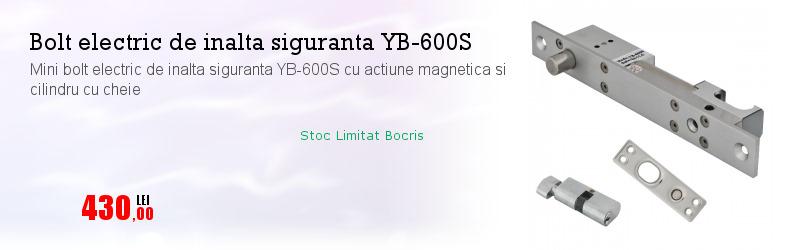 Mini bolt electric de inalta siguranta YB-600S cu actiune magnetica si cilindru cu cheie