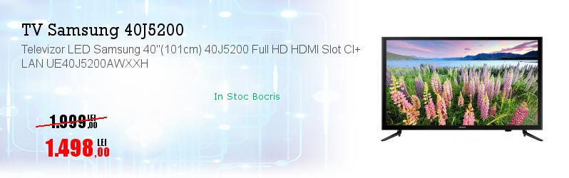 """Televizor LED Samsung 40""""(101cm) 40J5200 Full HD HDMI Slot CI+ LAN UE40J5200AWXXH"""