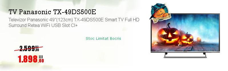 """Televizor Panasonic 49""""(123cm) TX-49DS500E Smart TV Full HD Surround Retea WiFi USB Slot CI+"""
