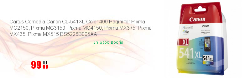 Cartus Cerneala Canon CL-541XL Color 400 Pagini for Pixma MG2150, Pixma MG3150, Pixma MG4150, Pixma MX375, Pixma MX435, Pixma MX515 BS5226B005AA