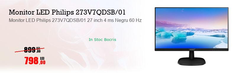Monitor LED Philips 273V7QDSB/01 27 inch 4 ms Negru 60 Hz