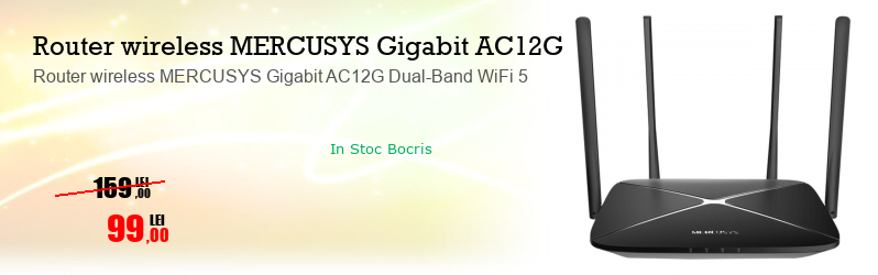 Router wireless MERCUSYS Gigabit AC12G Dual-Band WiFi 5