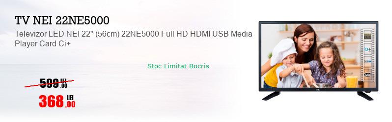"""Televizor LED NEI 22"""" (56cm) 22NE5000 Full HD HDMI USB Media Player Card Ci+"""